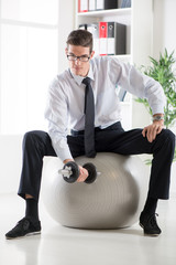 Businessman Exercising