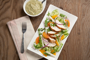 Spiced-Rubbed Turkey Breast with Salad