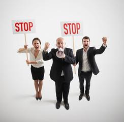 displeasure people on the meeting