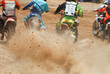 Fototapety Dirt debris from a motocross race