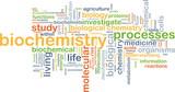 biochemistry wordcloud concept illustration poster