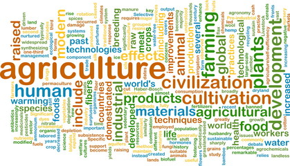 agriculture wordcloud concept illustration