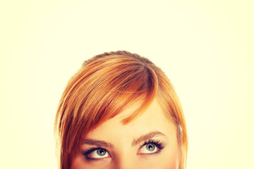 Woman eyes with long lashes