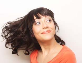 portrait young emotional woman