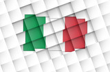 Italy flag on disconnected squares poster