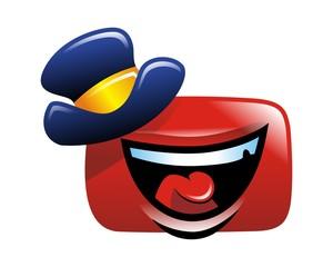 cheerful box logo image vector