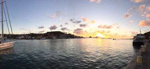Saint Barthélemy, St Barth caraibi, Gustavia tramonto