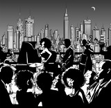Jazz music band performing in New York - 82720540