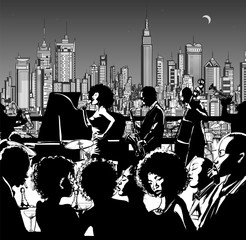 Jazz music band performing in New York © Isaxar