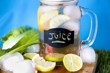 lemon juice in mug