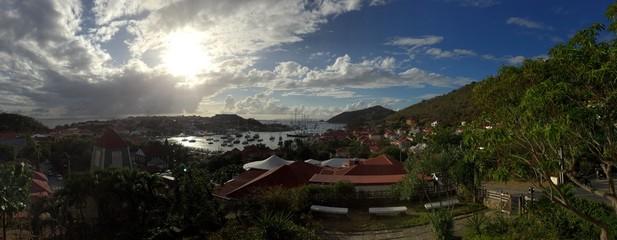 Saint Barthélemy, St Barth panoramica Gustavia caraibi