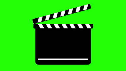 Clapperboard On Green