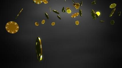 golden Casino chips black