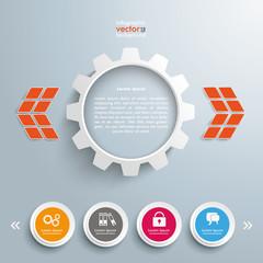 Zahnrad 4 Kreise Widget Template Design