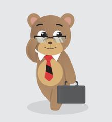Teddy bear with suitcase
