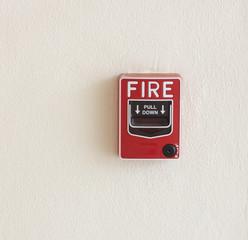 Emergency button fire break glass