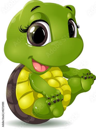 obraz PCV Mały żółw