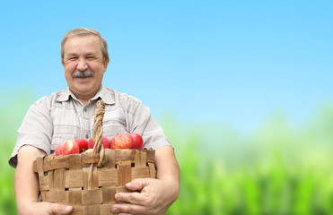 Harvesting an apples