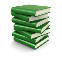 Stack of books (clipping path included)