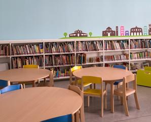 Sala biblioteca per bambini