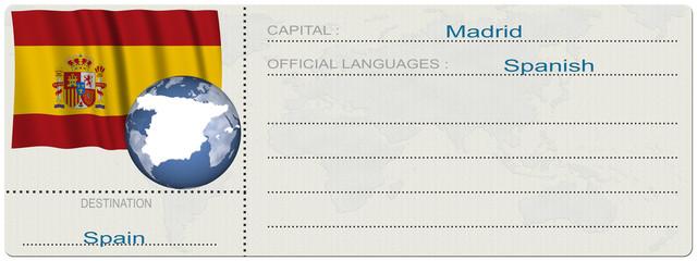 Biglietto Destinazione_Spain