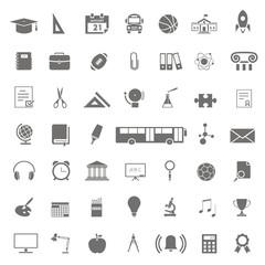 48 iconos sobre educación FB