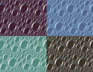 Seamless background with soap bubbles.
