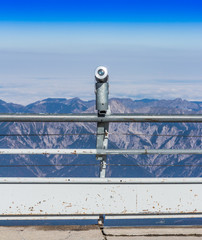 The telescope at the viewpoint, Top of Germany, Zugspitze