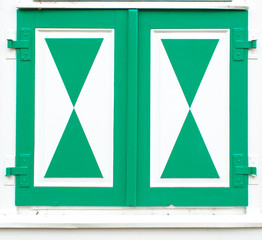 typical pattern of dutch style windows