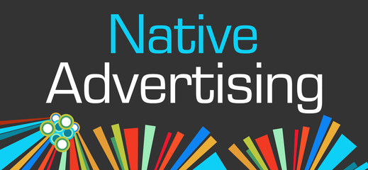 Native Advertising Dark Colorful Elements