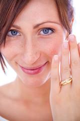 ring showing bride