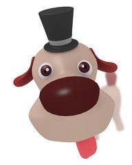 覗く犬のキャラクター