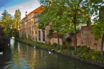 Beautiful scene in Brugge ,Belgium