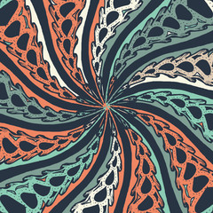 Abstract doodle background. Zentagle. Spiral.