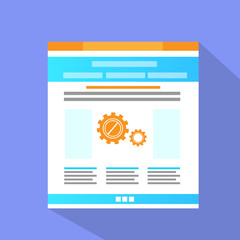 Internet Web Site Page Flat Icon Vector