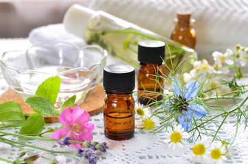 aromatherapy treatment with natural cosmetics