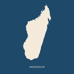 MADAGASCAR MAP flat design illustration vector