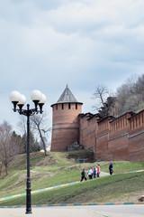Башня нижегородского кремля весной