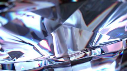 Slowly Rotating Diamond, close up. seamless loop. 4K
