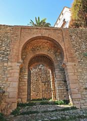 Puerta de la Cijara, muralla de Ronda, Andalucía, España