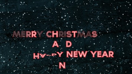 Happy New Year and Merry Christmas video