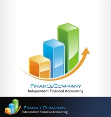 finance logo symbol vector