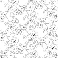 Apple flower pattern