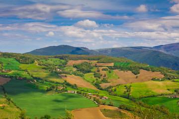 Tipica paesaggio di campagna del centro Italia.