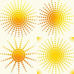 sun set  pattern