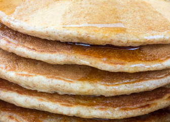 Stack of whole grain pancakes