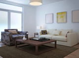 Fototapety Living room scandinavian style