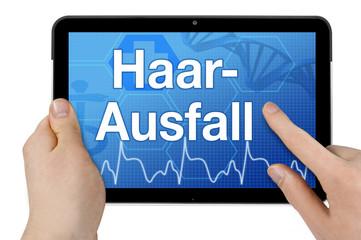Tablet mit Interface und Haarausfall