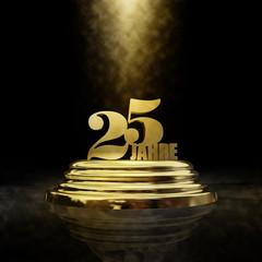25 Jahre Sockel Gold Spot
