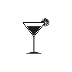 The cocktail icon. Alcohol symbol. Flat